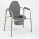 All-In-One Gray Coated Steel Commode